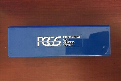 Professional Coin Grading Service PCGS Blue Box 20 Holder Slots Plastic