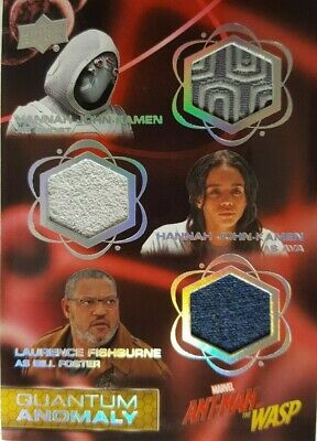 2018 Ant-Man & Wasp  Quantum Anomaly Triple Relic Card QMT4 Ghost, Ava, Bill