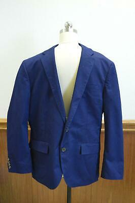 JCrew $298 Men's Crosby Suit Jacket in Itailan Chino 42R Admiral Blue E7561 AVL