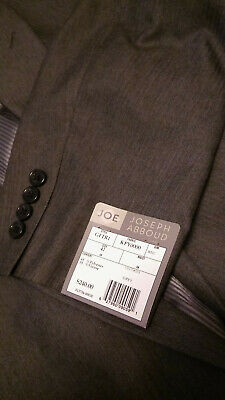 Men's Joe Joseph Abboud 42R Blazer Suit Jacket Sport Coat Gray 2 Buttons NWT