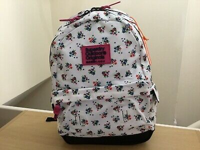 Superdry Women's Print Edition Montana White Ditsy/Floral Backpack BNWT