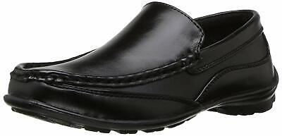 Kids NOTFOUND Boys Booster Driving Slip On Loafers, Black, Size 4.0 bEgA