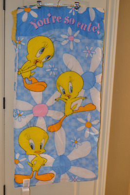 Vintage Tweety Bird Looney Tunes Sleeping Bag Blanket 2000 Warner Bros USA Made
