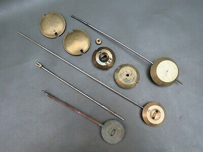 Job lot of French clock pendulum parts for restoration - spares parts