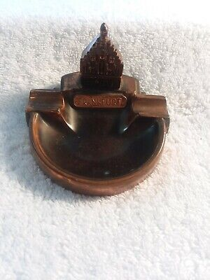 "Vintage Bronze Plated ""Frankfurt"" Ashtray"
