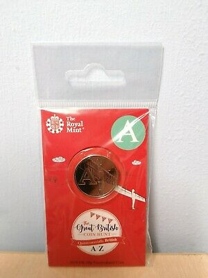 A TO Z Alphabet 2018 10P Ten Pence Coin, LETTER A Brand New Sealed Early Strike
