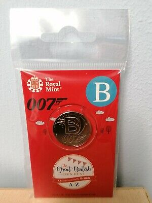 A TO Z Alphabet 2018 10P Ten Pence Coin, LETTER B Brand New Sealed James Bond