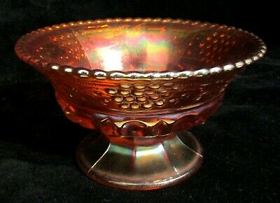 "Northwood Grape & Cable Marigold Carnival Glass 5"" Small Berry or Ice Cream Bowl"