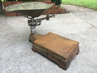 Antique Continental Cast Iron Counter Scale Vintage Hardware General Store