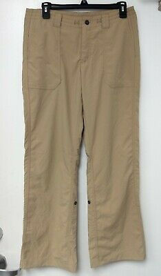 PATAGONIA Women's Khaki Outdoor Hiking Roll Up Pants Size 8