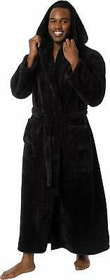 Ross Michaels Mens Luxury 400gsm Hooded Long Robe - Full Length Plush Big & Tall