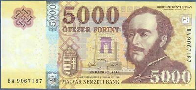 2016 P-New 5000 Forint Hungary redesigned UNC