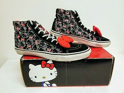 VANS HELLO KITTY New Black Passion Flower Women's Size 7