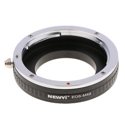 Lens Adapter Ring for Canon EF Mount Lens to M42 42mmx0.1 Camera, Manual Control
