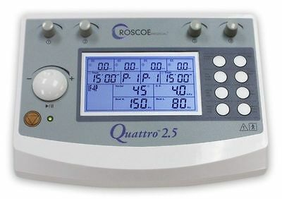 Quattro 2.5 Profesional ELECTROESTIMULADOR 4 CANALES Device TENS EMS Roscoe