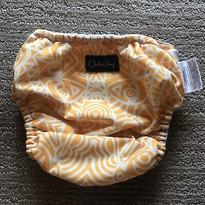 Bum Genius One Size Cloth Diapers Cover Chelsea Perry design Yellow swirl
