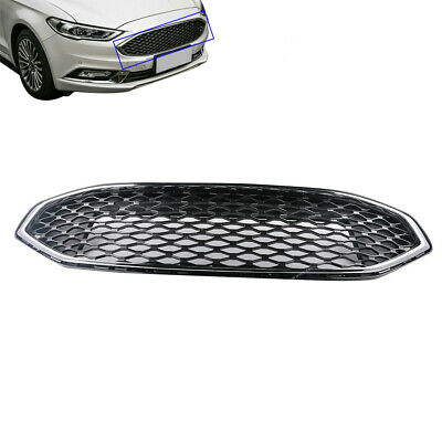 Front Bumper Upper Grill Grille Honeycomb For 2017-2018 Ford Fusion
