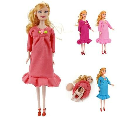 Fun Dress Dress Real Pregnant Doll Suit Doll Have A Baby In Her Tummy