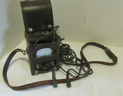 Vintage Bell System Ohm Test Meter With Leather Case KS-8455 LQQK!