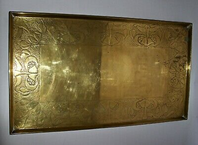 Keswick School of Industrial Art K.S.I.A. Arts and Crafts brass tray