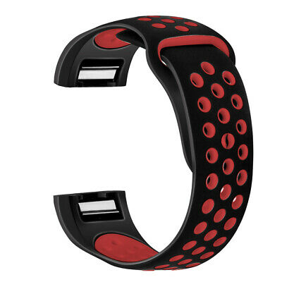 Silicone Breathable Replacement Wristband Watch Band Strap For Fitbit Charge 2