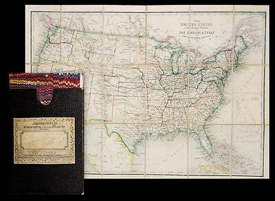 c1870 USA Amerika United States Wyld Engraved coloured map