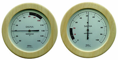 Fischer Sauna Thermometer + Hygrometer Set, 155 mm, Made in Germany