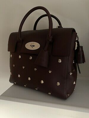 Mulberry Cara Delvingne Ltd Edt Lion/Heart Rivet 3 Way Bag/Backpak + Key Ring