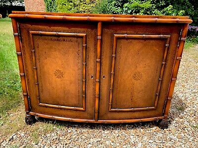 Solid Bow Fronted Leather Sideboard Dresser . Delivery Available Most Uk Areas