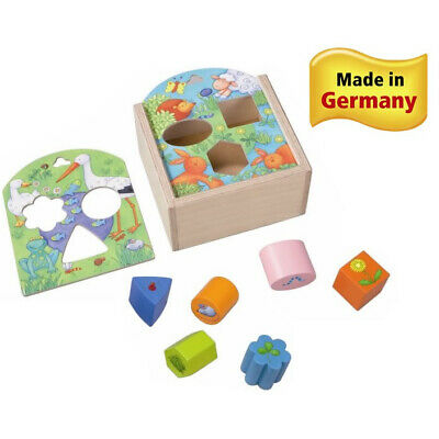 HABA Animals Sorting Box - Wooden Shape Sorter and Matching Toy