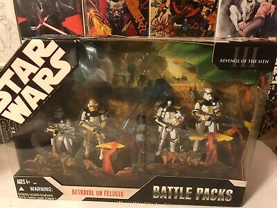 2006 Star Wars Revenge Of The Sith Bettayal On Felucia Battle Pack New Sealed Nr 55 99 Picclick
