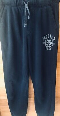 Boys Black Jogging Bottoms Age 11/12 100% Cotton