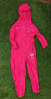 Girls Trespass Waterproof Snowsuit Hot Pink Age 5-6 Years Lightweight