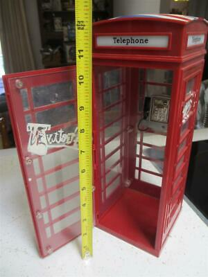 British phone booth replica door phone display T&M dollhouse doll house stickers