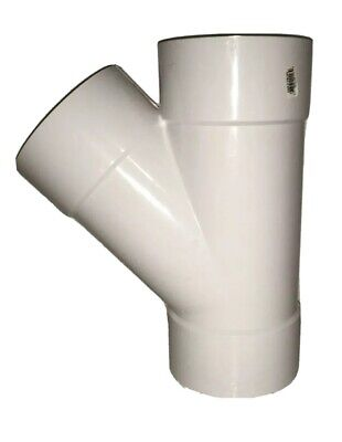 "Genova Products 41060 6"" Wye Sewer & Drain PVC Pipe Plumbing"