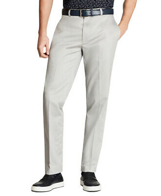 Brooks Brothers Mens Clark Fit Stretch Lightweight Chino Pants,Grey(34x32)5115-9
