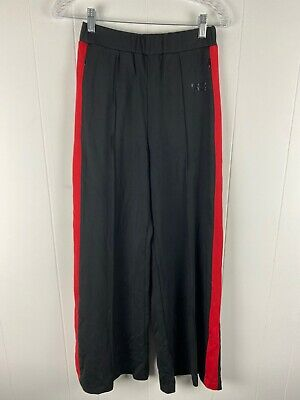 NWT The Kooples SPORT Black Trousers with Red Stripe on The Sides Women's Size 1