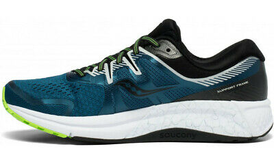 Saucony Men's OMNI ISO 2 Shoes Sneakers Runners Running - Blue/Silver