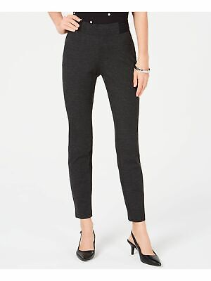 ALFANI $69 Womens New Black Contrast Waist Skinny Pants 6 B+B