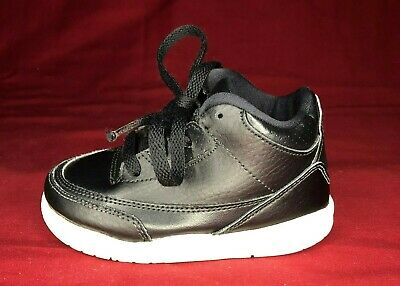 Nike Air Jordan III 3 Retro BT Black//Black-White 832033-020 Toddler Size 6C