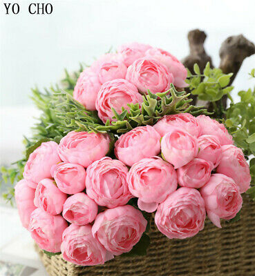 Artificial Flower Small Bouquet Silk Roses Peonies Bridal Bridesmaid Bouquet