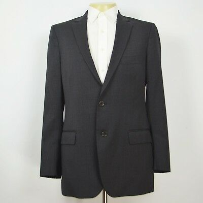 Mint BROOKS BROTHERS Fitzgerald 100% Wool Charcoal Two Button Sport Coat Sz 40L