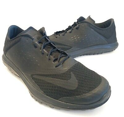 Nike FS Lite Run 2 Mens Size 14 Black Athletic Running Shoes Sneakers 685266-005