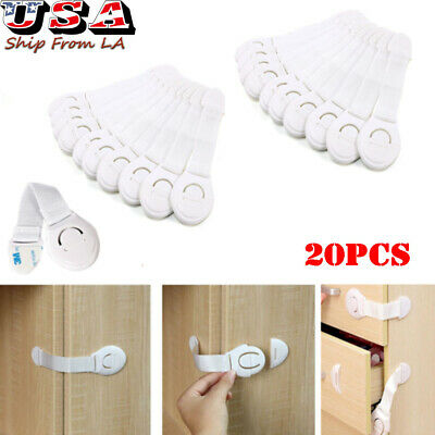 Child Safety Locks Cupboard Baby Proof Cabinet Drawer Kitchen Toilet Seat Straps