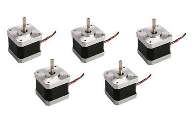 EU SHIP Stepper motor Nema17 0.5N.m 4-Lead 1A 2 phase Flat shaft 3D printer