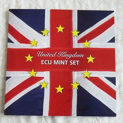 UNITED KINGDOM 1992 7 COIN ECU PATTERN SET - sealed