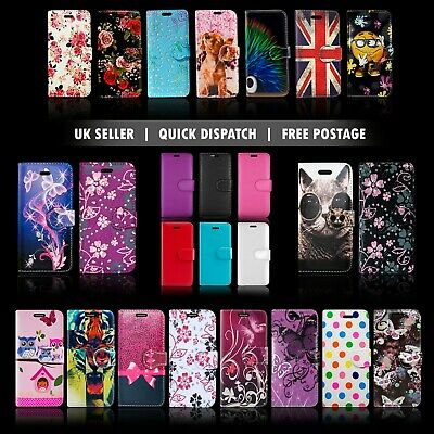 For Samsung Galaxy S4 S5 S7 S9 Leather Wallet Book Phone Stand View Case Covers