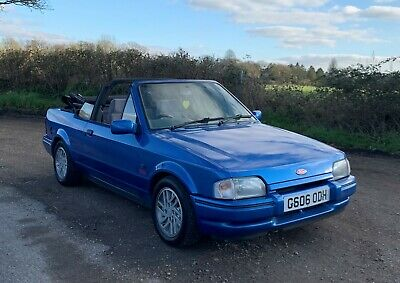 Ford Escort XR3i 1989 convertible unmolested example in tidy condition swap px
