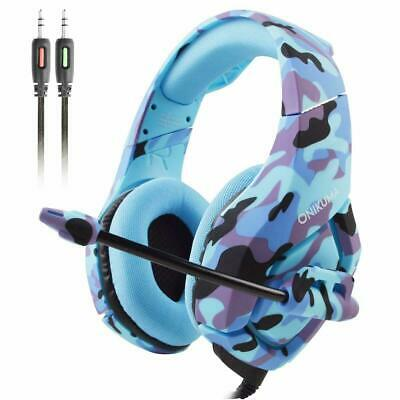 AU Gaming Headset for PS4 Xbox One Switch 3.5MM MIC ONIKUMA Headphone Camouflage