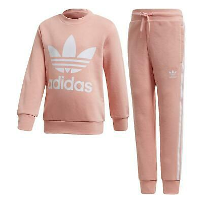 Adidas Crew Set Girl's Pink Suit Fm5623